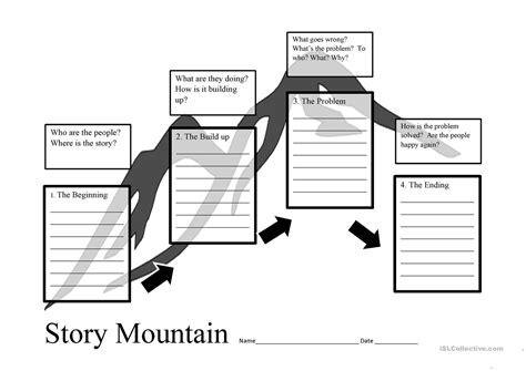 story mountain template story mountain planner worksheet free esl printable