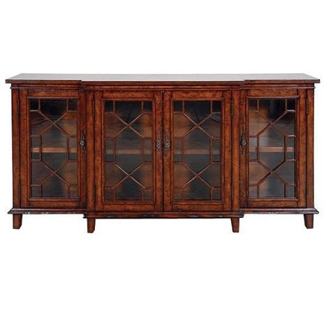 Gorgeous Burl Glass Doors W Wood Trim Sideboard Buffet Buffet Cabinet With Glass Doors