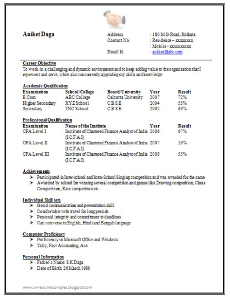 professional resume formatting tips freshers resume format 2016 best resume format