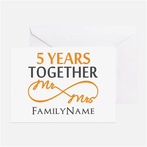 5 year anniversary greeting cards card ideas sayings