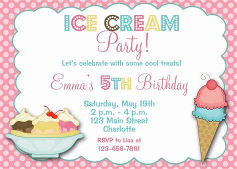 free printable invitations ice cream party ice cream party birthday invitation ice cream by