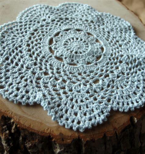 Handmade Doilies - 8 quot handmade cotton crochet doilies arctic spa blue