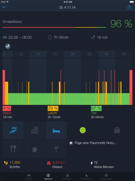 schlaf analyse review sleep better app bluemind tv