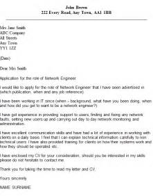 Network Engineer Cover Letter network engineer cover letter exle icover org uk