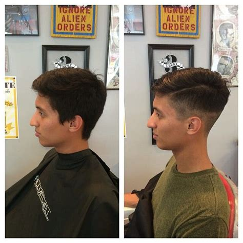 before and after thinning mens haircut men s cut before and after megan sunny hair pinterest