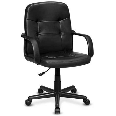 pu leather ergonomic midback executive computer  desk task office chair ebay