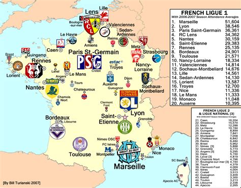 france ligue 1 image gallery ligue 1 map