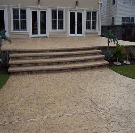 overlay concrete patio nj concrete overlay gallery