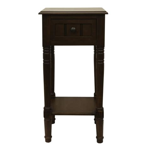 decor therapy end table decor therapy simplify ash brown 1 drawer end table fr1553