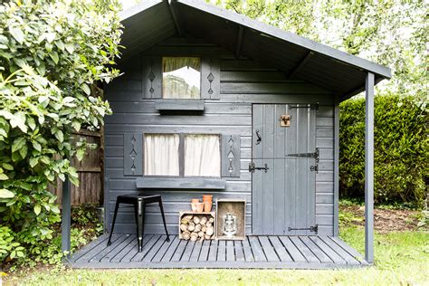shed makeovers dark grey shed makeover with cuprinol urban slate garden paint