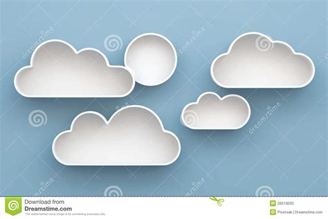 Regal Wolke by Regal Und Regalauslegung Der Wolke 3d Stockfoto Bild
