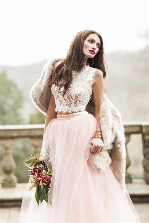 Lace Pink Crop Top Skirt Gaun Malam Dress Baju Pesta Import 31 ideas to pull a wedding dress weddingomania