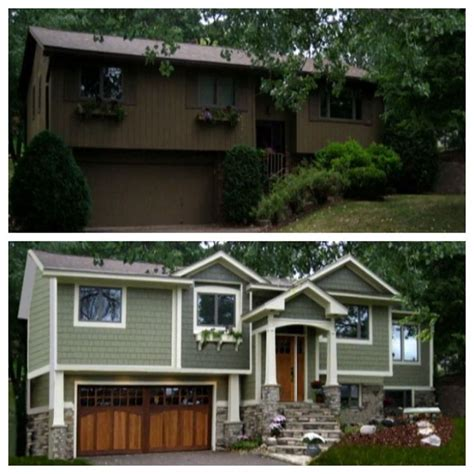 exterior house renovation ideas 1970 s split level goes craftsman nice reno idea for some