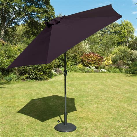 2.7m crank handle Parasol in Black fabric