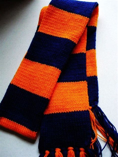 how to knit a striped scarf blue and orange striped scarf stripe knit scarf www