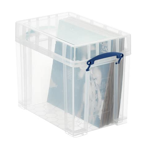 12 Vinyl Record Storage Boxes by Really Useful Boxes Small Stackable Vinyl Record Storage