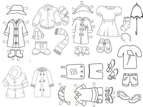 imagenes de ropa en ingles para colorear mariposeando ando actividades variadas