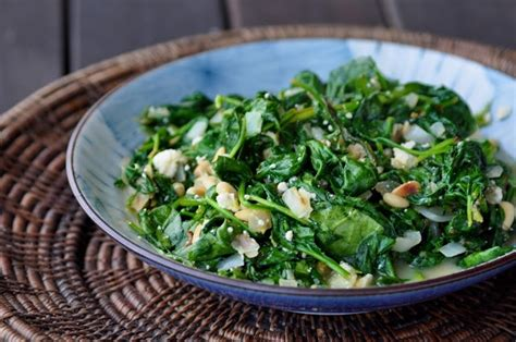 ina garten spinach spinach with feta pine nuts this recipe was adapted