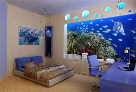 aquarium bedrooms decorate your living place with aquarium full of colors