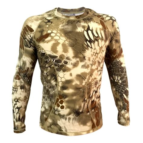 New S Camo Cycling Tops Compression Sleeve T Shirt Sport highlander camo sleeve tactical shirt breathable kryptek tight compression army shirt
