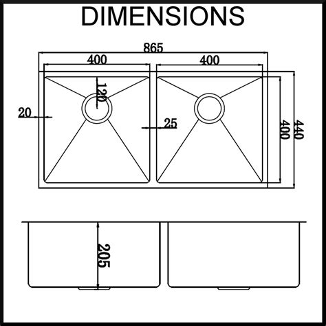 Sink Dimensions kitchen sink dimensions