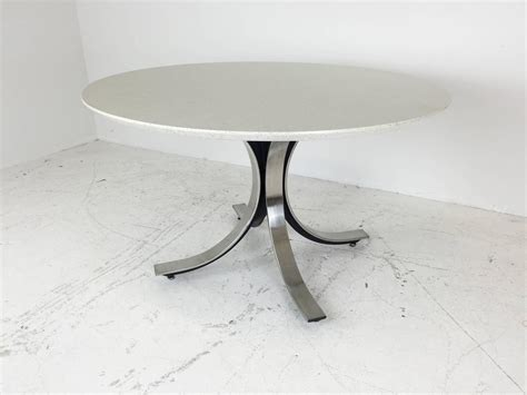 Quartz Dining Table Four Legged Chrome Base Dining Table With White Quartz Top By Borsani For Sale At 1stdibs