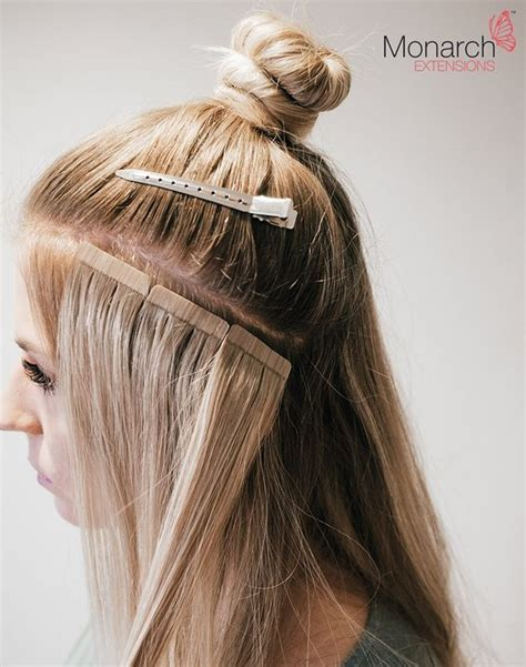 are tape extensions good for updos monarch extensions top knot tape in method extensions