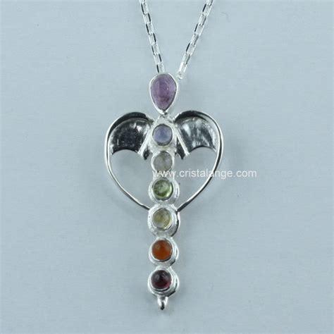 Collier coeur d'ange argent et pierres fines boutique de vente en ligne de bijoux anges gardiens