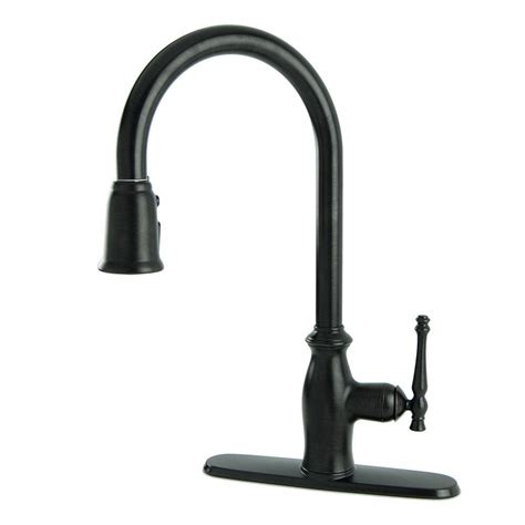 oil rubbed bronze pull down kitchen faucet kingston brass classic single handle pull down sprayer