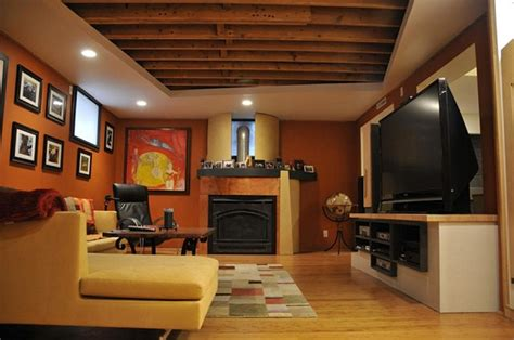 Ceiling Design Pic by Attractive Painting Unfinished Basement Ceiling Ideas