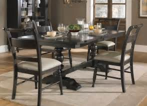 black dining room set liberty furniture whitney 5 piece 94x42 dining room set in