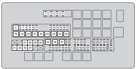 toyota land cruiser 2010 2011 fuse box diagram