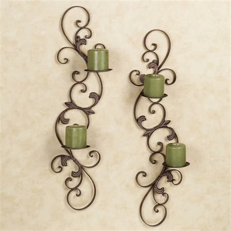 Home Interiors Sconces by Jennison Metal Wall Sconce Set
