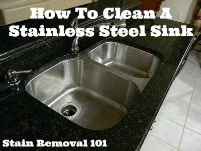 How Do You Clean A Stainless Steel Kitchen Sink by How To Clean Stainless Steel Sink Tips Tricks