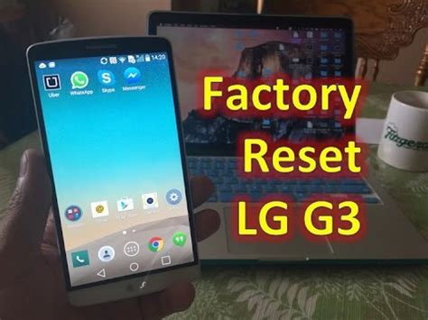 format factory reset lg g3 two ways to factory reset format and erase youtube