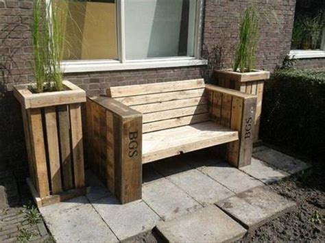 Backyard Bench Ideas Wood Pallet Garden Bench Ideas Pallet Wood Projects