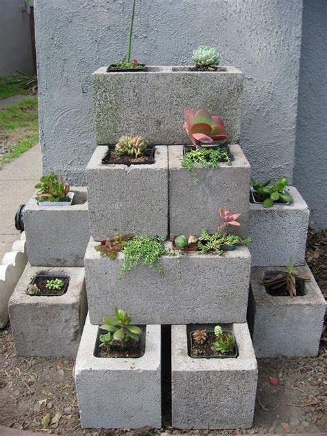 cinder block planter beautiful garden