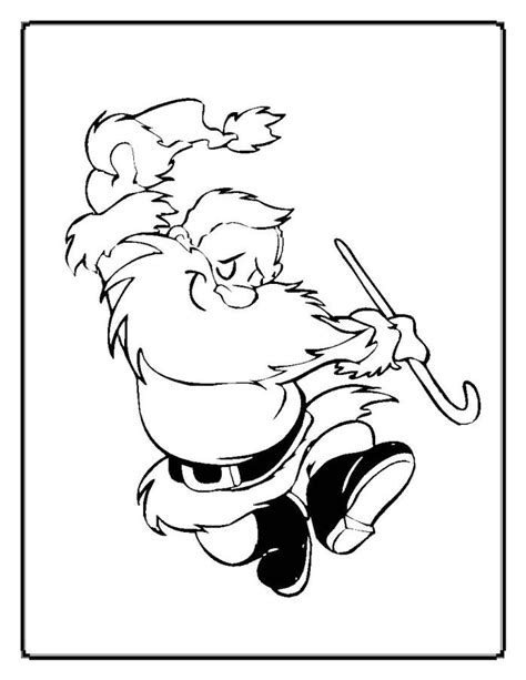 dancing santa coloring page christmas coloring pages