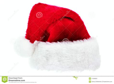 santa hat isolated on white stock photos image 11339923