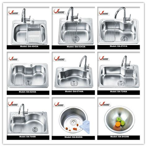 kitchen sink styles oa 5741 stainless steel single bowl sink italian kitchen