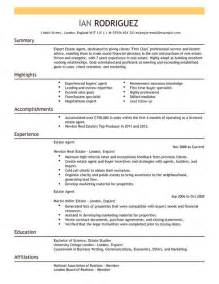 Sample Resume For Real Estate Agent Real Estate Agent Resume Ingyenoltoztetosjatekok Com