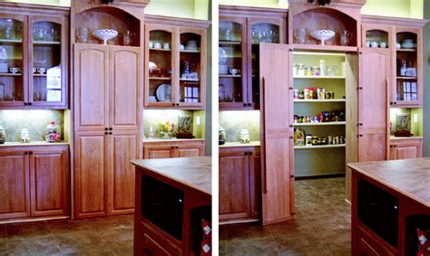 Secret Pantry by Creating Hidable Storage For The Kitchen Remodeling