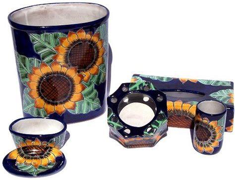 sunflower bathroom accessories sunflower talavera ceramic bathroom set dazzling home