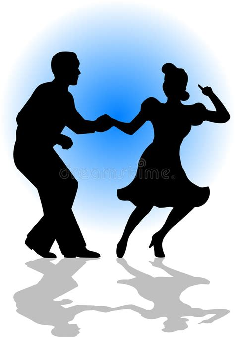 swing dance clip art swing dancing couple eps stock vector illustration of