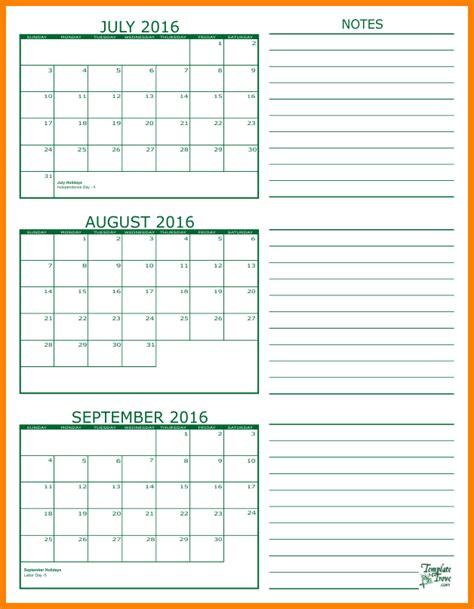 Calendar Template September 2017 Editable Calendar June July August Calendar Template 2017