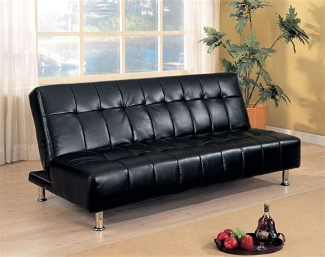 black leather futon sofa bed black futon sofabed