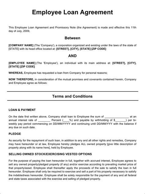 Employee Loan Agreement Download Free Premium Templates Forms Sles For Jpeg Png Pdf Employee Repayment Agreement Template