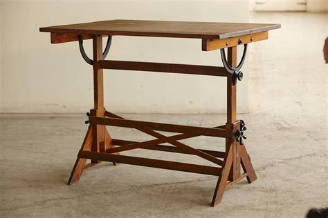 Vintage Drafting Tables Antique Industrial American Oak Drafting Table At 1stdibs