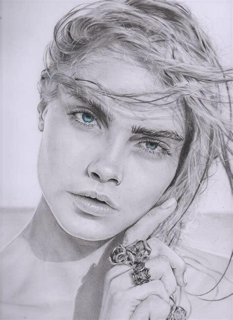 imagenes de retratos a lapiz retratos dibujo a lapiz cara delevingne compra tu retrato
