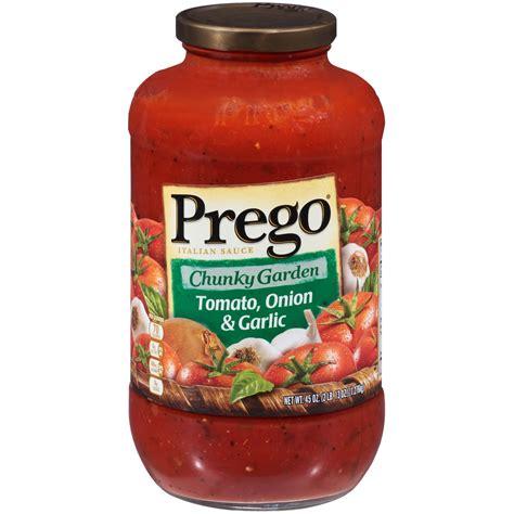 Prego Chunky Garden Italian Sauce Tomato Onion 7 Garlic Prego Garden Vegetable Sauce